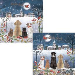 Luxury Christmas Card Pack - Christmas Eve Watch