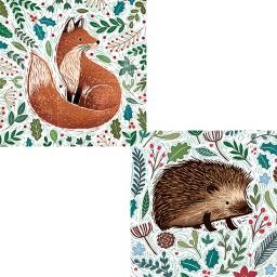 RSPB Luxury Christmas Card Pack - Festive Foliage