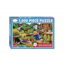 Rectangular Jigsaw - Garden Dogs