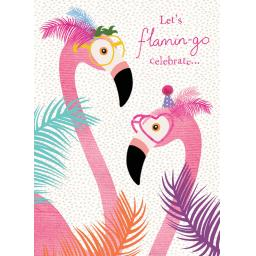 Pom Poms Card Collection - Flamingos & Feathers