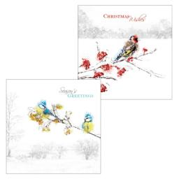 Luxury Christmas Card Pack - Frosty Perch
