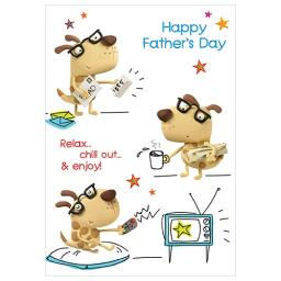Fathers Day Card - Fathers Day Dogs