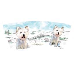 Curved Mug - West Highland White Terrier