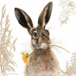 Pollyanna Pickering Countryside Collection Card - Hare & Sunflower