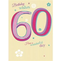 Special Birthdays Card - 60 Female