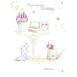 Teacups & Trinkets Card - Garden Days