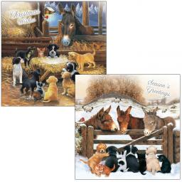 Luxury Christmas Card Pack - Animal Nativity