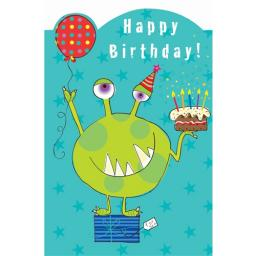 Sugar & Mice Card - Green Monster