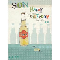Family Circle Card - Birthday Bottle (Son)