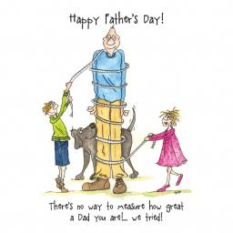 Fathers Day Card - Measure