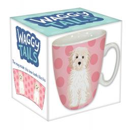 Curved Mug - Waggy Tails - Dog