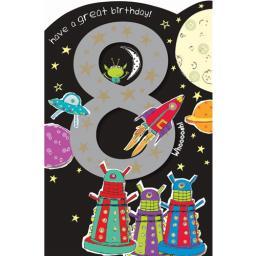 Cut 'N' Paste Card - Age 8 Rockets