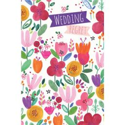 Wedding Regret Card - Flowers & Text