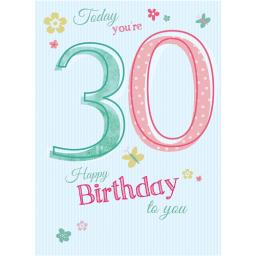 Special Birthdays Card - 30 Female