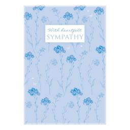 Sympathy Card - Floral Stems & Butterflies
