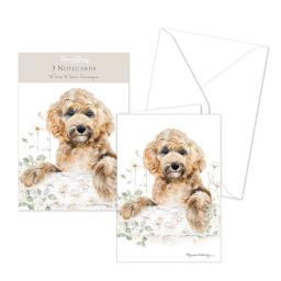 Pollyanna Pickering Stationery - Notecard Pack - Cockapoo