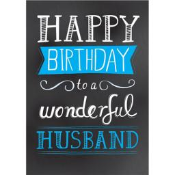 Family Circle Card - Chalkboard Text (Husband)