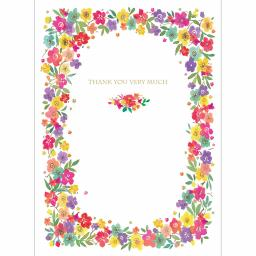 Thank You Card - Bright Floral