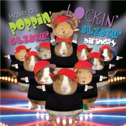 Crazy Crew Card - Poppin' Lockin' Birthday