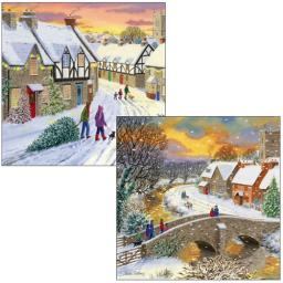 Luxury Christmas Card Pack - Family Christmas