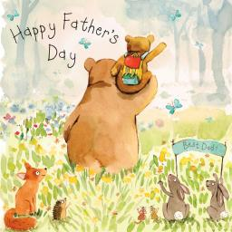 Fathers Day Card - Dad Bear