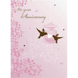 Anniversary Card - Lovebirds (Your)