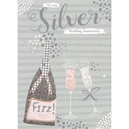 Anniversary Card - Fizz & Glasses (Your)
