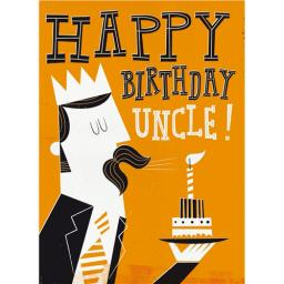 Family Circle Card - Blowing Out A Candle (Uncle)