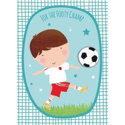 Hip Hip Hooray Card - Football Champ