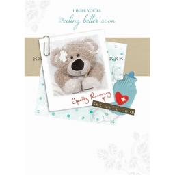 Get Well Soon Card - Poorly Bear