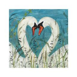 Enchanted Wildlife Card - Swans