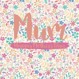 Mother's Day Card - All Over Floral
