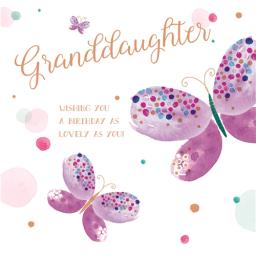 Family Circle Card - Text (Granddaughter)