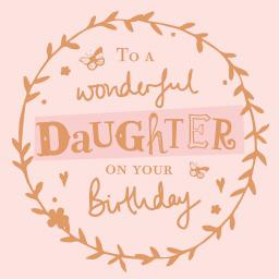 Family Circle Card - Birthday Text (Daughter)