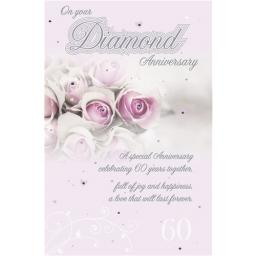 Anniversary Card - Roses (Your Diamond Anniversary)