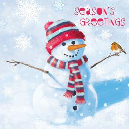 Help For Heroes Christmas Card Pack (Small) - Snowman's Friend