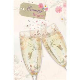 Wedding Regret Card - Floral Champagne (Evening)