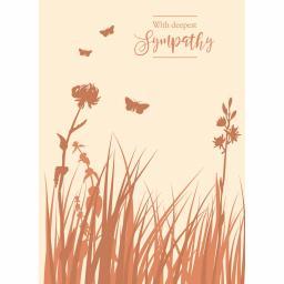 Sympathy Card - Meadow Butterflies