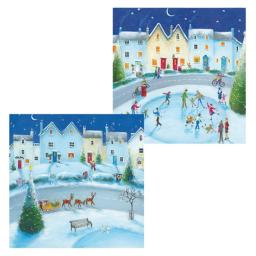 Luxury Christmas Card Pack - Fun In The Snow