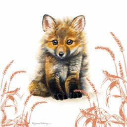 Pollyanna Pickering Countryside Collection Card - Fox Cub