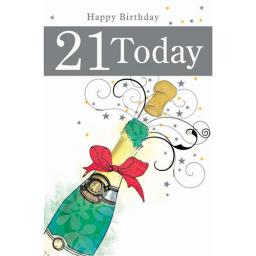 Age To Celebrate Card - 21 Champagne