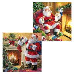 Luxury Christmas Card Pack - Christmas Eve By The Fireplace