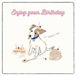 Tommy Doggy Card - Cake Mess