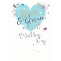 Wedding Card - Bride & Groom Heart
