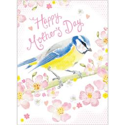 Mother's Day Card - Blue Tit & Blossom