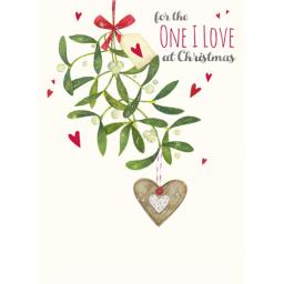 Christmas Card (Single) - One I Love 'Mistletoe Heart'