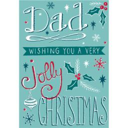 Christmas Card (Single) - Dad 'Handwritten Text'