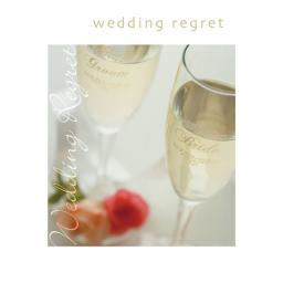Wedding Regret Card - Glasses