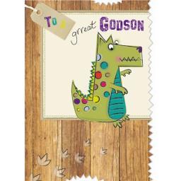 Family Circle Card - Dinosaur (Godson)
