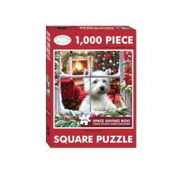 Square Jigsaw - Waiting For Santa